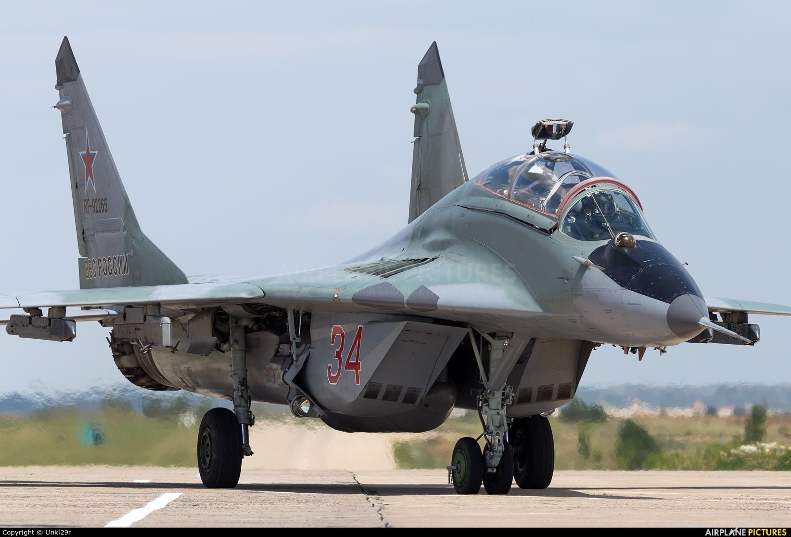 Russia Air Force 34 aircraft at Undisclosed Location