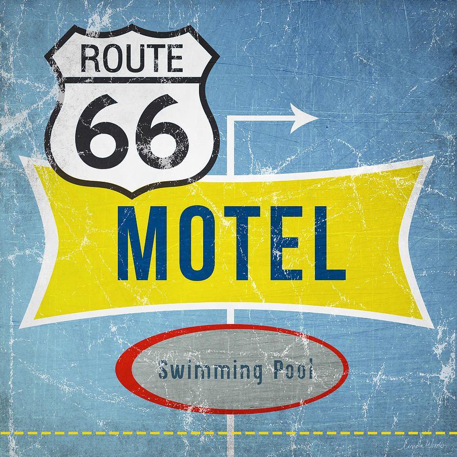 Route 66 Motel Print by Linda Woods on Fine Art America | Summer ...