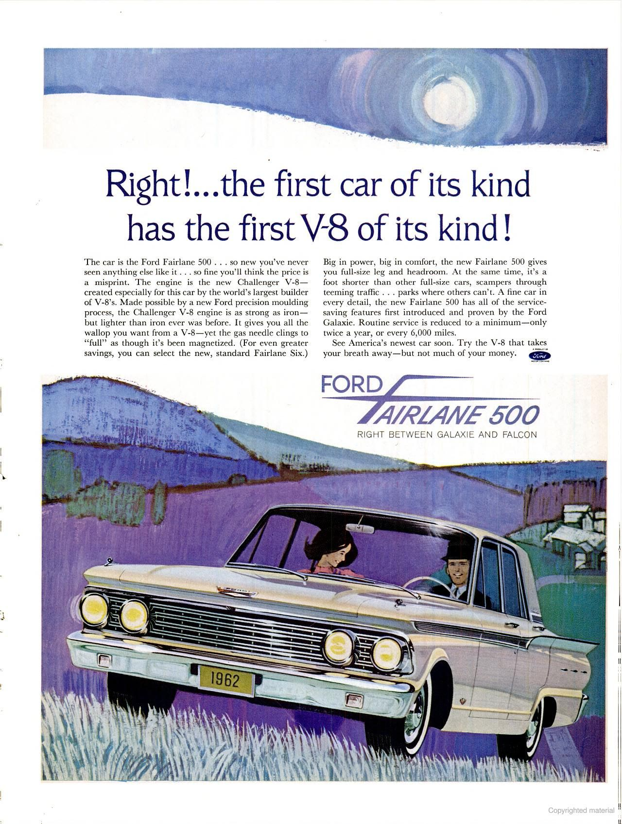 Pin By Chris G On Vintage Car Ads Ford Fairlane 500 Ford Fairlane Fairlane 500