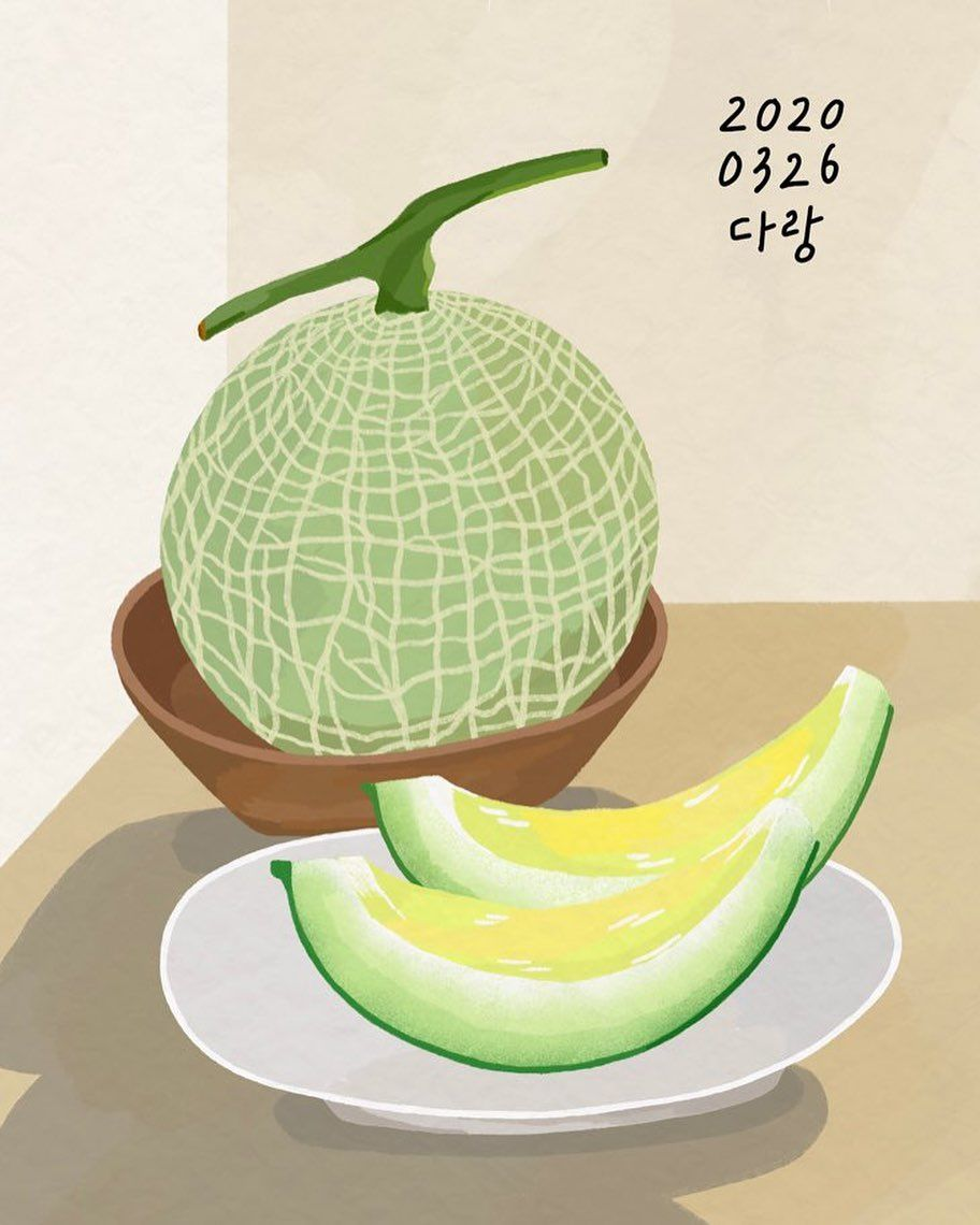 """307 Likes 8 Comments Darang Drawing Darang On Instagram 86 ˹—소리 ̓€ë‹¥íƒ€ë‹¥ ̆Œë¦¬ë""""¤ìœ¼ë©° Ê·¸ë¦¼ê·¸ë¦¬ë‹ˆê¹Œ Ì¢‹ë‹¤ ̘¤ëŠ˜ì€ ˨¹ê³ì‹¶ì€ ʳ¼ì¼ì"""" Ê·¸ë¸ë‹¤ ˬ´ì—‡ë•Œë¬¸ì— ̙œ Ê°'자기 3월이 5일밖 Food Fruit Melon Shop for cantaloupe art from the world's greatest living artists. 빗소리 타닥타닥"""