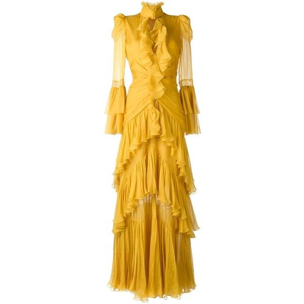 bcc40d5ad9 Roberto Cavalli tiered ruffled gown ( 6