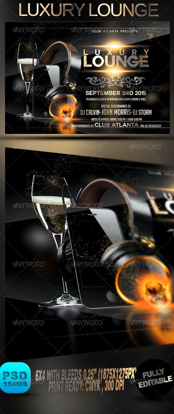 Luxury Lounge  Flyer Template