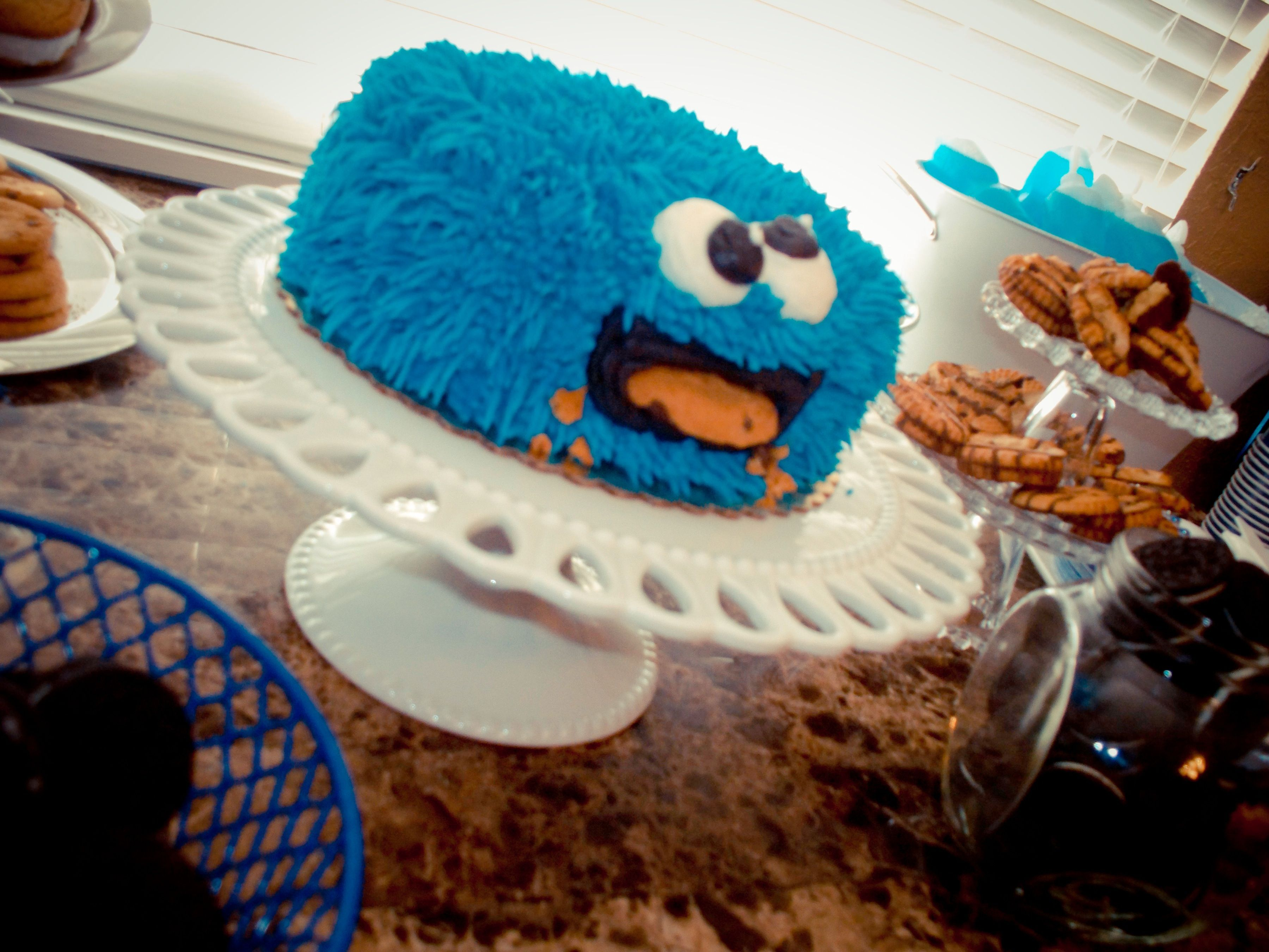Cookie monster recipe cake