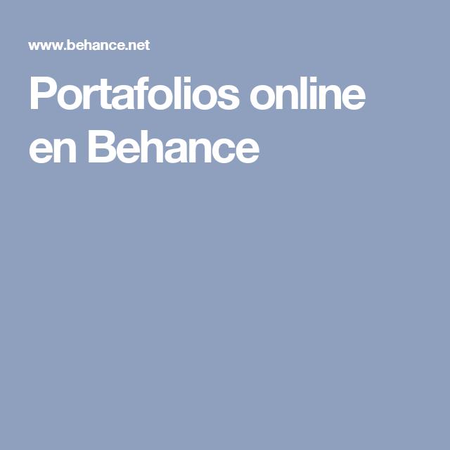 Portafolios online en Behance