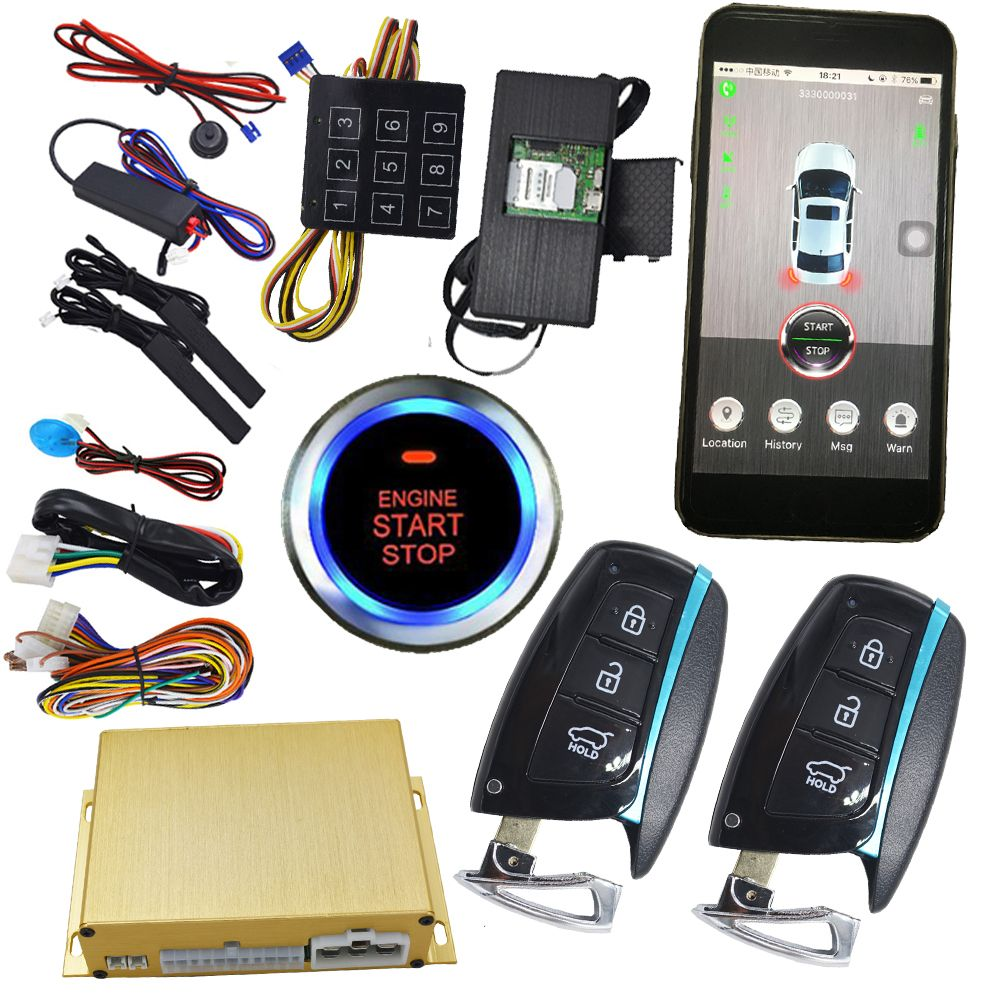 Unlock Car With Phone >> Aftermarket Remote Start Stop Engine With Keyless Go Smart