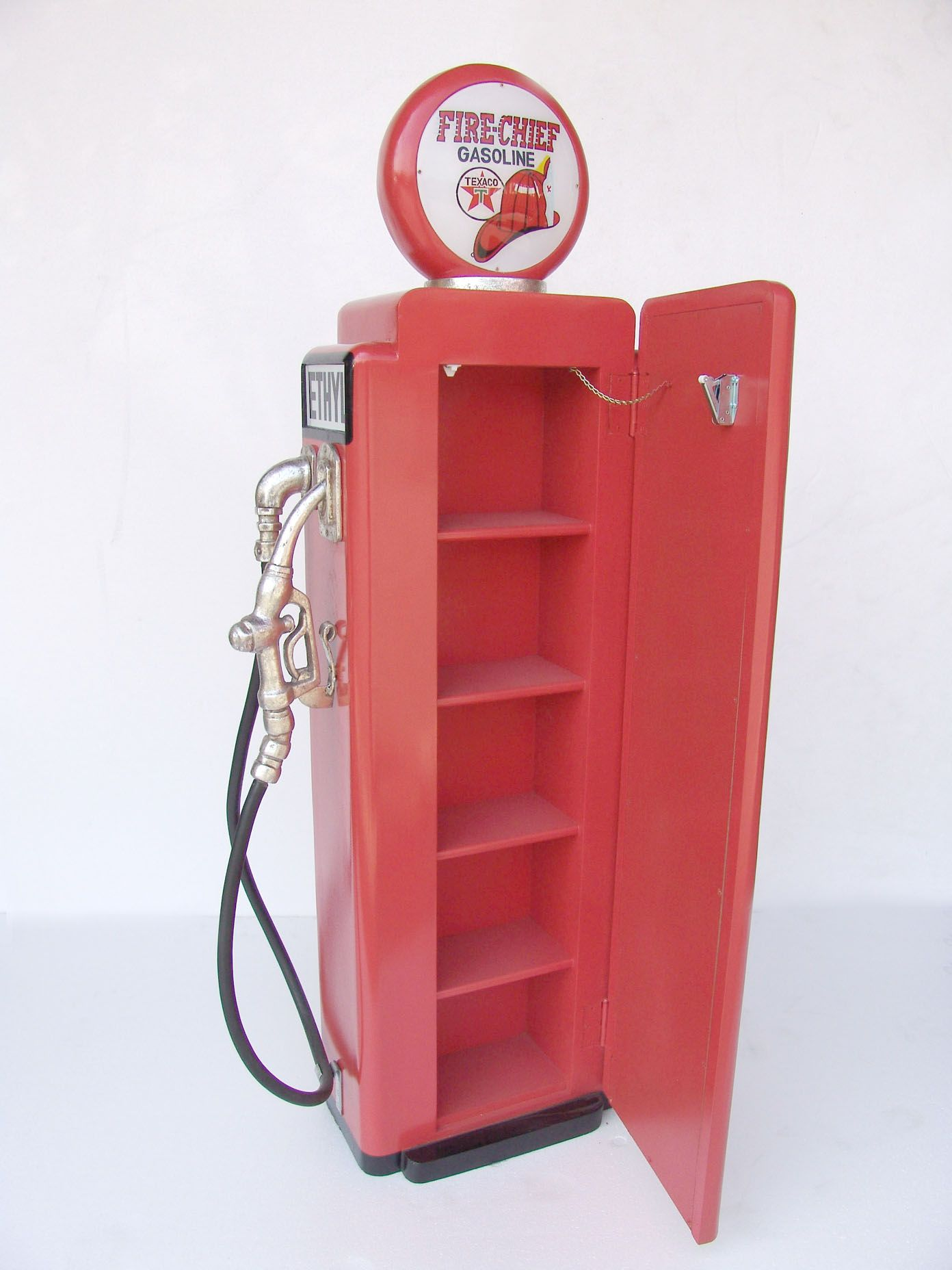 Gas Pump Cabinet Red 5ft