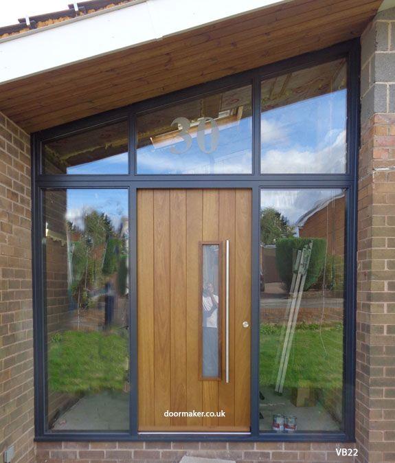 iroko contemporary door and sloped frame & iroko contemporary door and sloped frame   Front Doors   Pinterest ...
