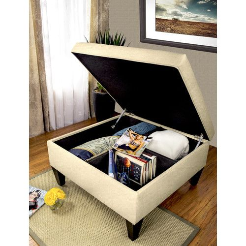 Found it at Wayfair - Manhattan Upholstered Cocktail and Organizational Storage Ottoman Table