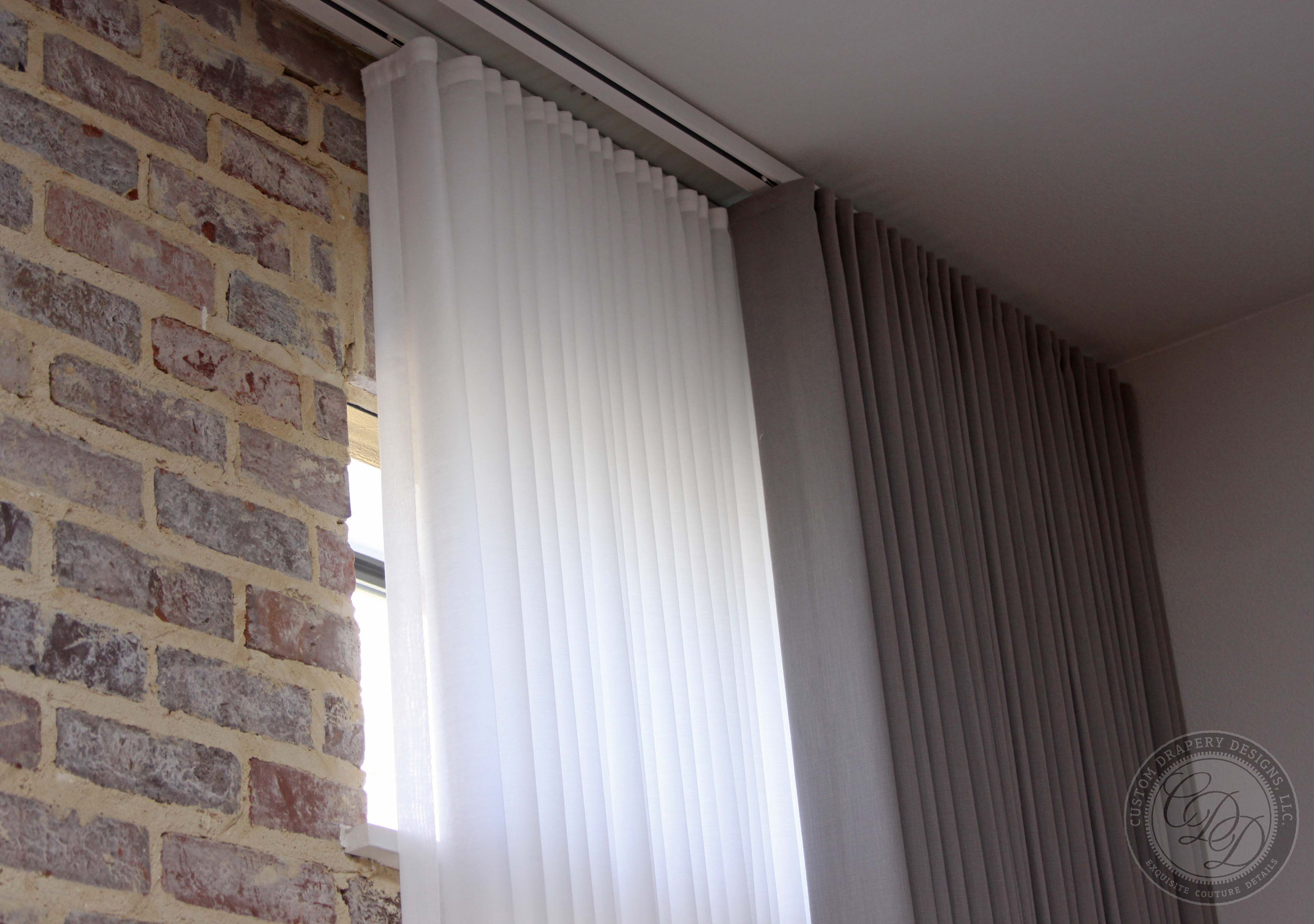Ripplefold Drapery Modern Ripplefold Drapery Installed In A Downtown Dallas