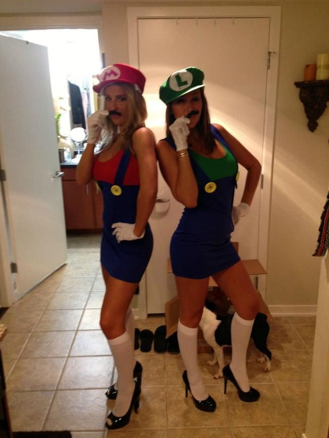 mario and luigi costumes - Girl Mario And Luigi Halloween Costumes