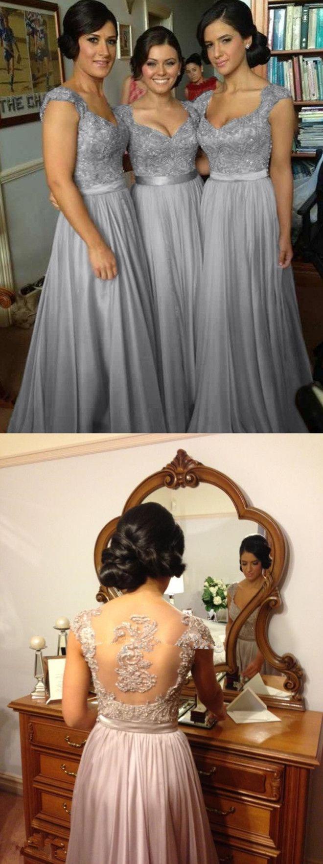 long bridesmaid dresses,lace bridesmaid dresses,grey bridesmaid dresses,simple bridesmaid dresses,cheap bridesmaid dresses