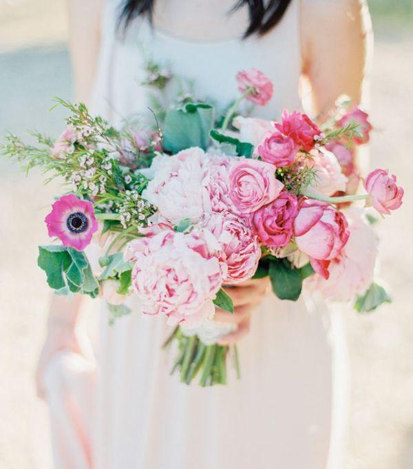2015 Pink Garden Style Wedding Bouquet | my wedding | Pinterest ...
