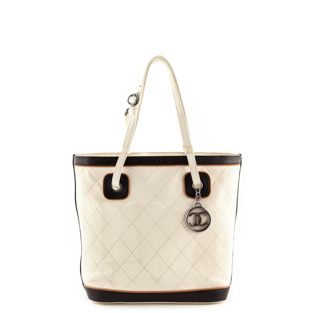 1c0f79970c70 Chanel Cream Quilted Top Handle Tote - LOVE that BAG - Preowned Authentic  Designer Handbags -  1800 CAD