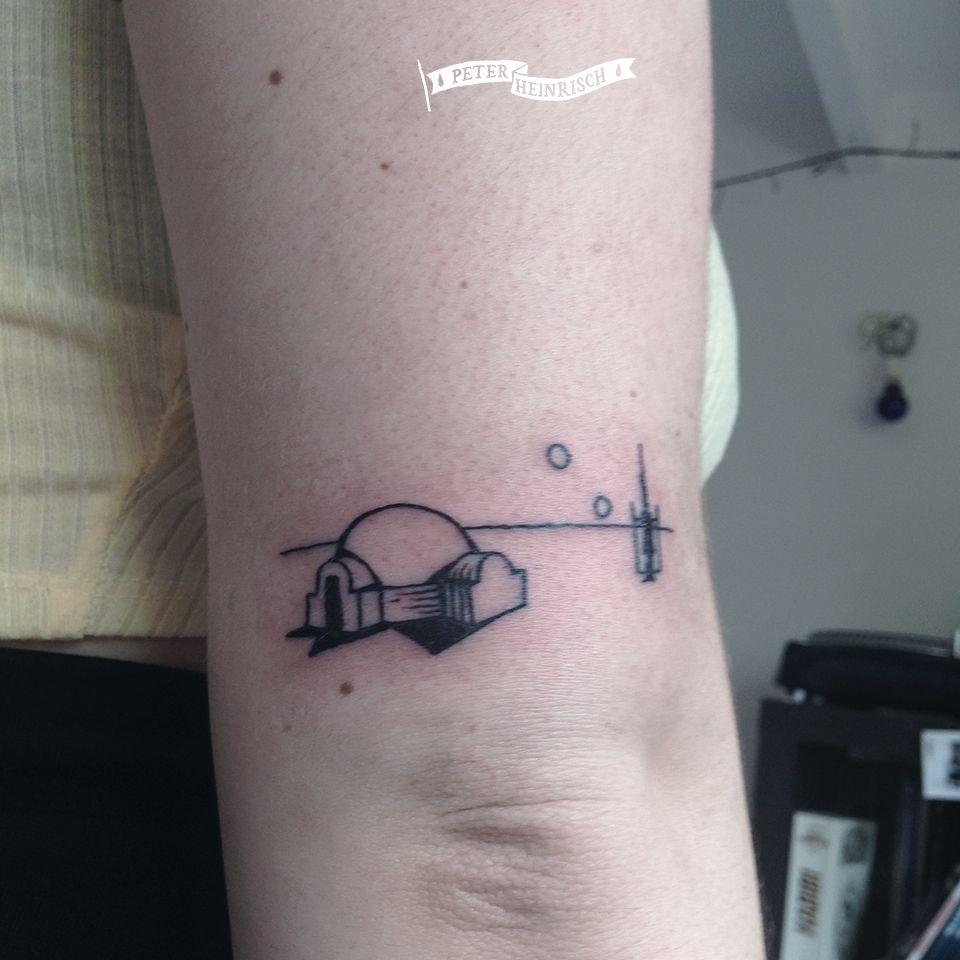 Star Wars tatooine tattoo by Peter Heinrisch | Nerdy ...
