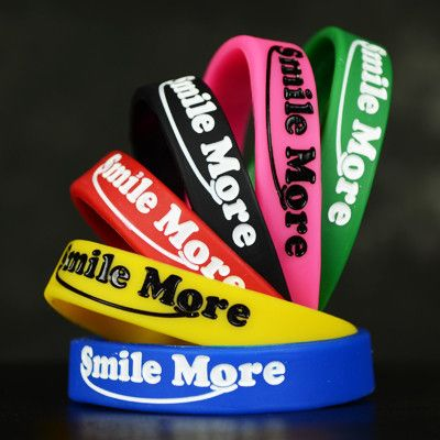 Smile More Silicone Bracelet – The Smile More Store :pink, blue, and black