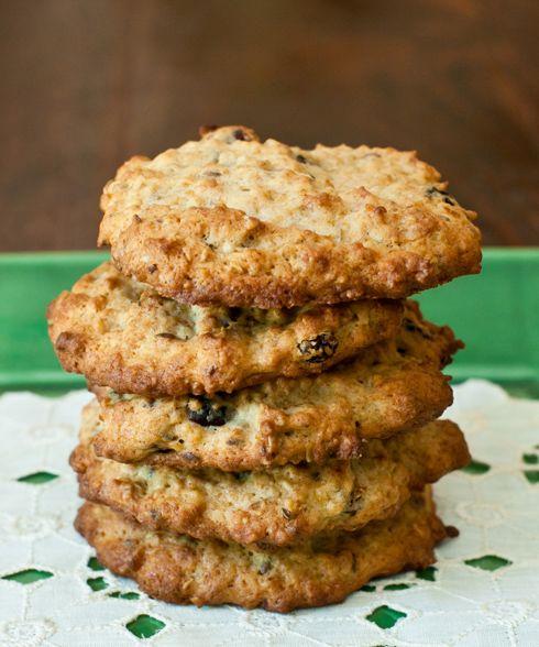 Banana-Oatmeal Power Cookies...coconut, rolled oats, ripe banana, golden raisins, dried cranberries, walnuts, flax seeds, sunflower seeds...