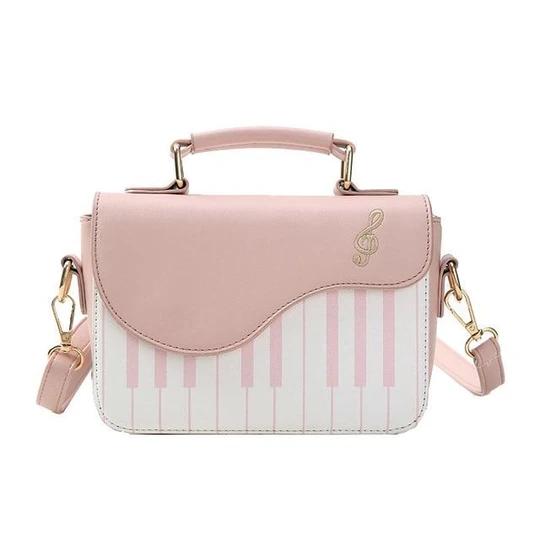 Piano Pattern Leather Handbag Women Flap Crossbody Messenger Shoulder Bag Tote#