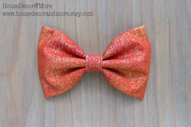 Fall Fabric Hair Bow - Halloween Fabric Hair Bows - Thanksgiving Fabric Hair Bows - Birthday Hair Bows
