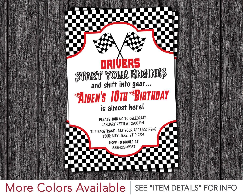 Race Car Birthday Invitation Racing Birthday Party Invitations – Costco Birthday Invitations
