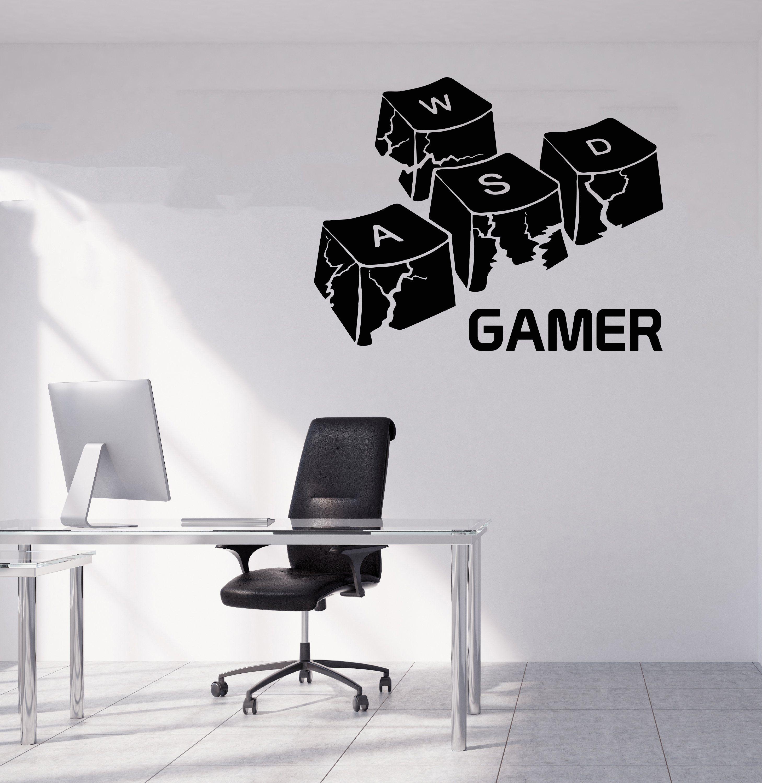 Gamer wall decal video games wall sticker controller wall