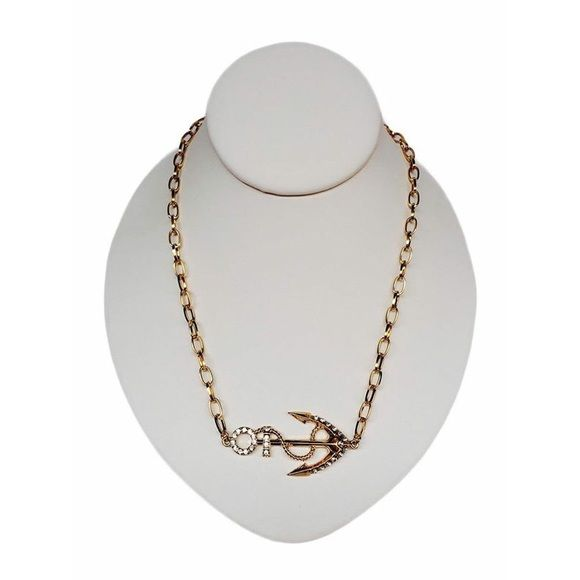 Anchor Necklace Anchor Necklace. Color Gold. Earrings Included. Measure 20 in with a 3 in extender Jewelry Necklaces
