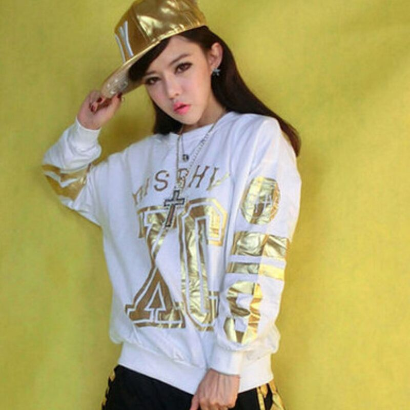 2016 Free Shipping Autumn Fashion Hype Letter Print Women Hoodies Black Pink Full Sleeves Cotton Hip Hop Sweatshirts