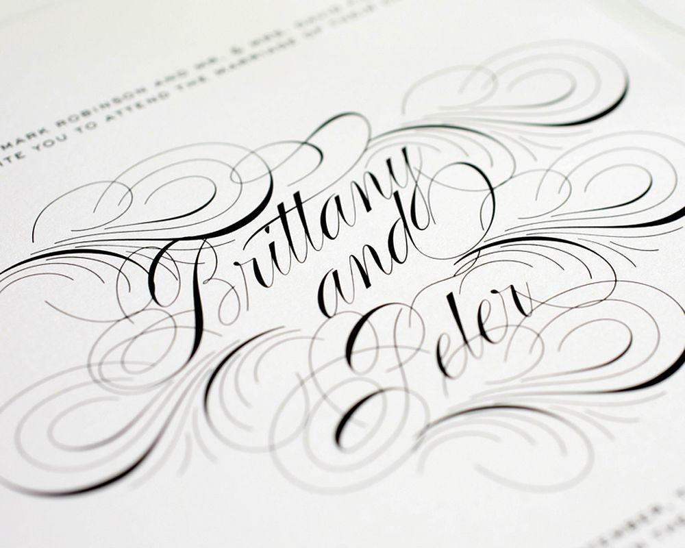 Luxe Flourish Wedding Invitations | Weddings, Wedding and Wedding stuff