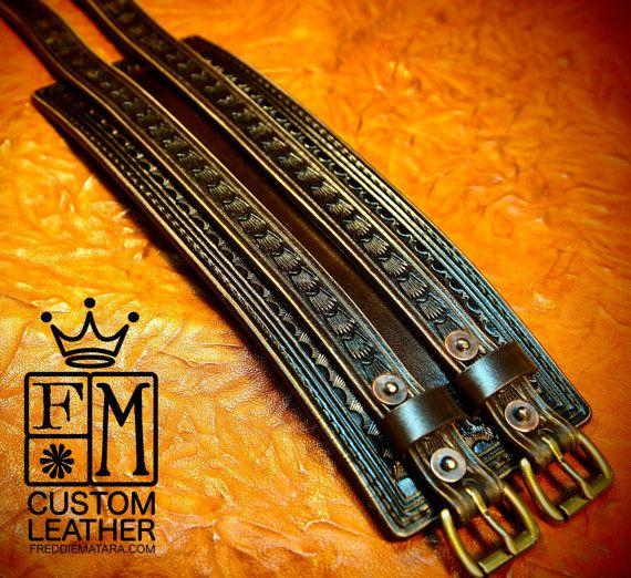 Leather Wrist Cuff Traditional American COWBOY ROCKSTAR Bracelet