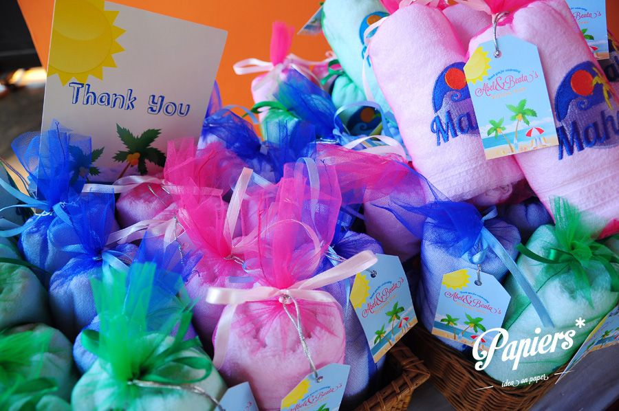 luau themed personalized souvenirs
