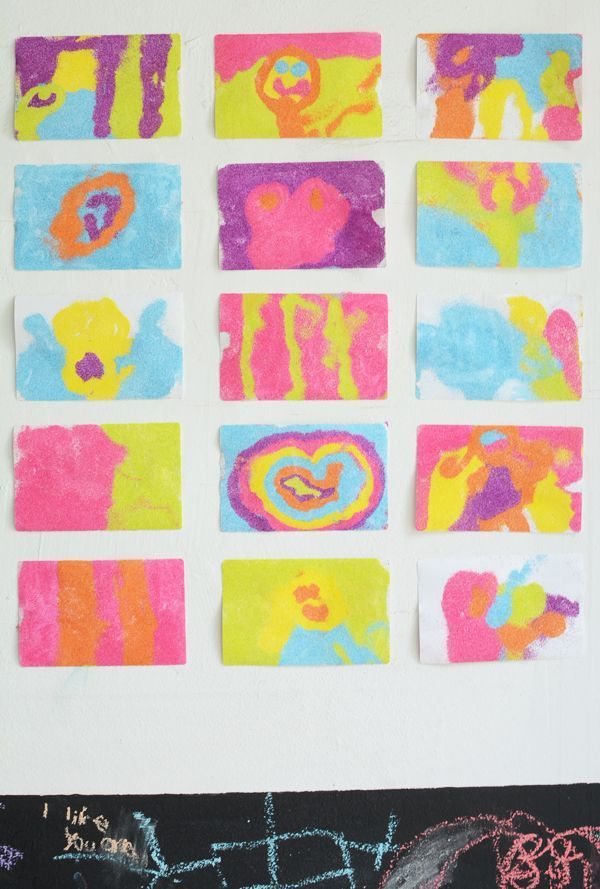 how to make colored sand art stickers art for kids pinterest