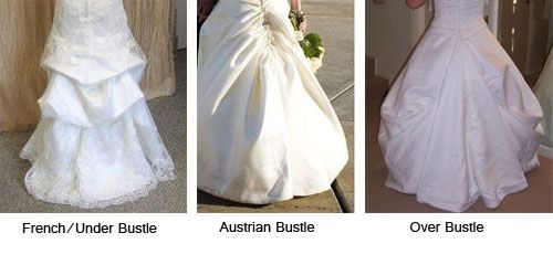Bustling a wedding dress train styles