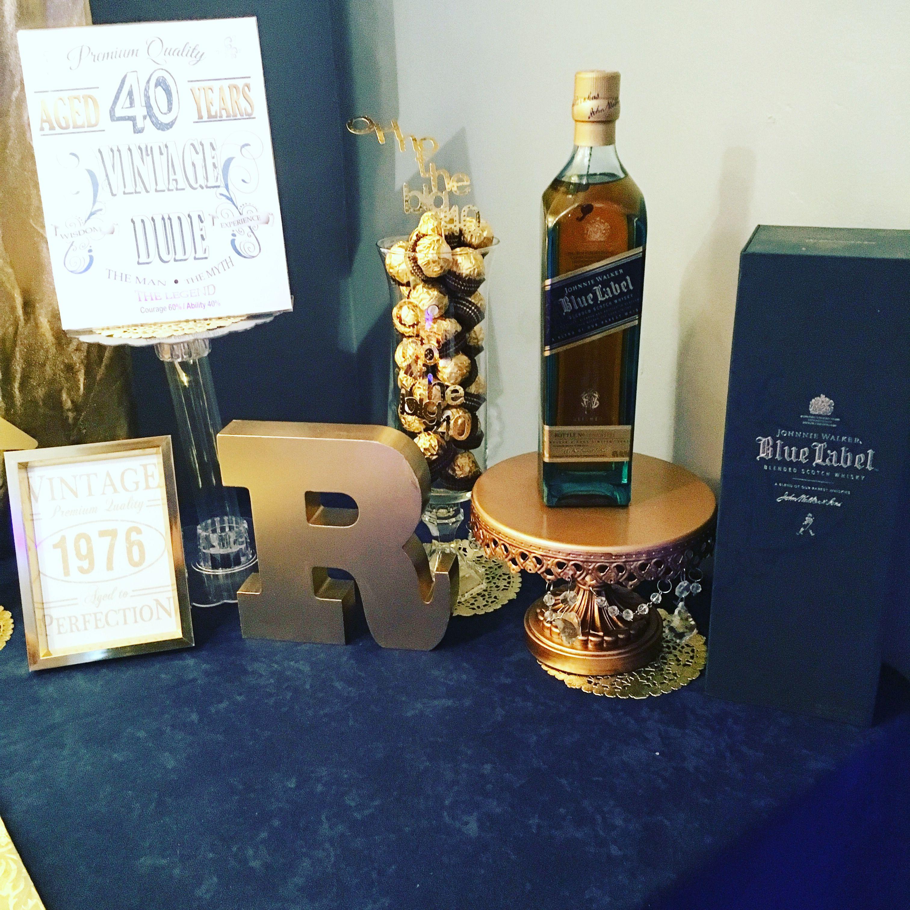Johnnie Walker Blue Bottle For Birthday Guy Johnnie