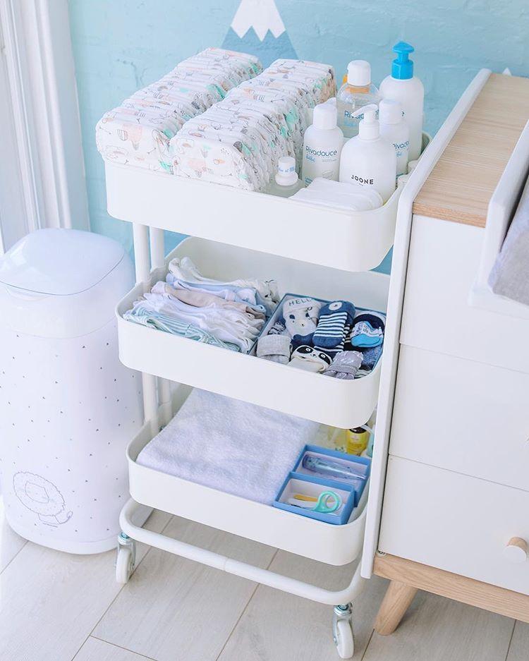 Babychoufamily Auf Instagram Je Viens De Rajouter Ce Rangement Trouve Chez Ikea Pour Ranger Ce Qu Baby Storage Baby Room Organization Baby Boy Room Decor