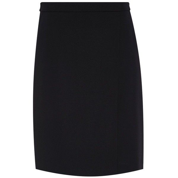 d43e12f7e1f7ab Hallhuber Wrap-effect pencil skirt ( 92) ❤ liked on Polyvore featuring  skirts
