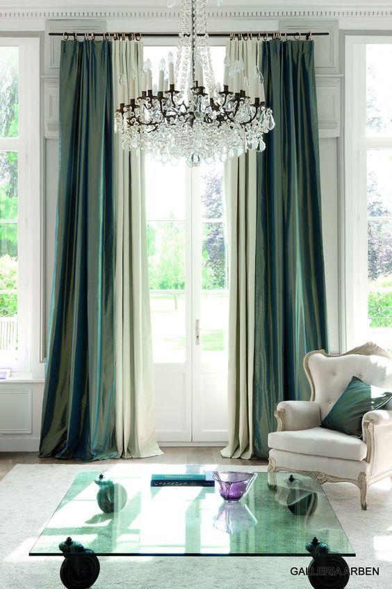 Dark Emerald Curtains Living Room