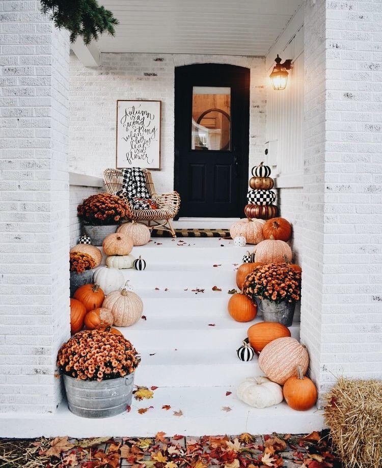 Pin by Jennifer Stevenson on Fall Pinterest Front steps, Autumn