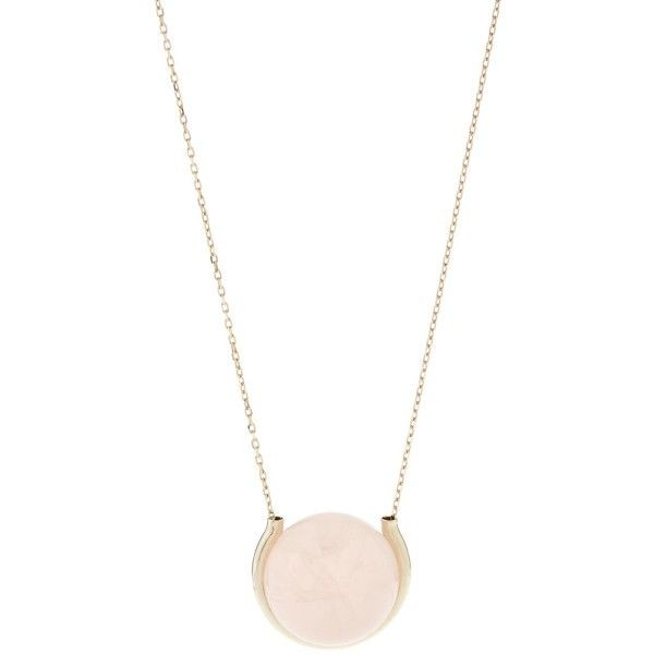 Noor Fares Quartz & grey-gold Divina necklace (413.880 ISK) ❤ liked on Polyvore featuring jewelry, necklaces, gray jewelry, gold chain jewelry, gold jewelry, gold chain necklace et quartz jewelry
