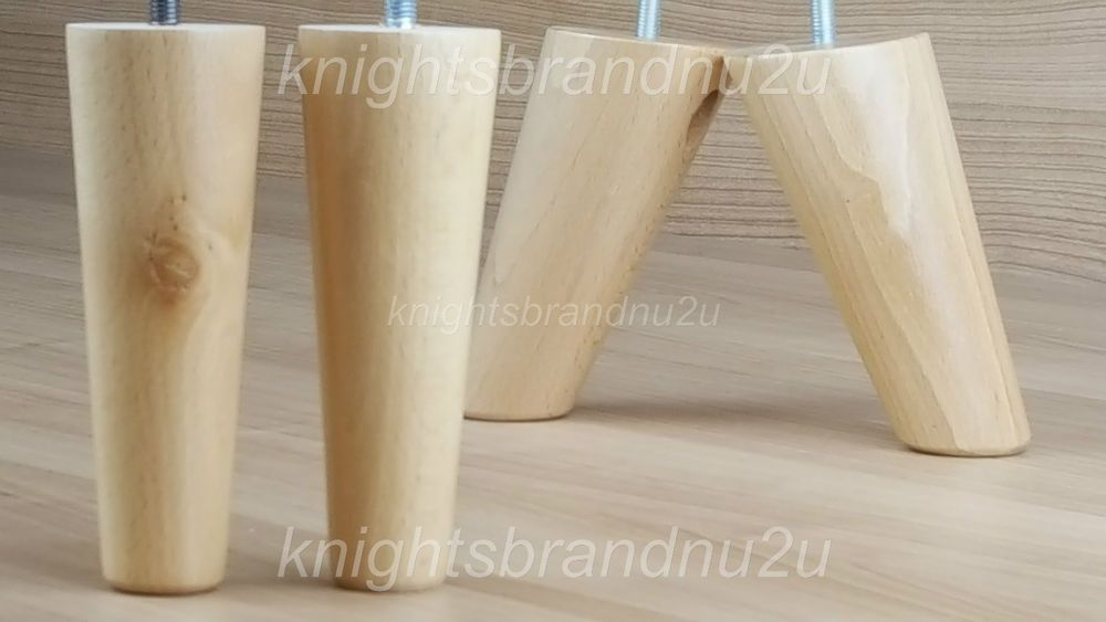4x Replacement Feet Natural Wood Furniture Legs Sofa Chairs Stools M8 8mm Ebay Furniture Legs Wood Furniture Legs Wooden Sofa
