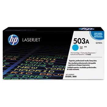 Hp 503a, (q7581a-G) Cyan Original Laserjet Toner Cartridge For Us Government