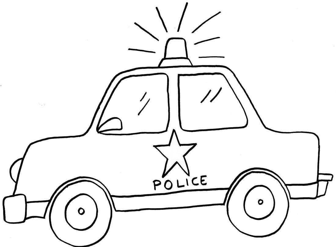 Trafik Haftasi Icin Polis Arabasi Boyama Sayfasi Polis Okul