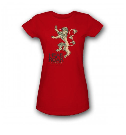 Game of Thrones Lannister Womens Slim Fit T-Shirt