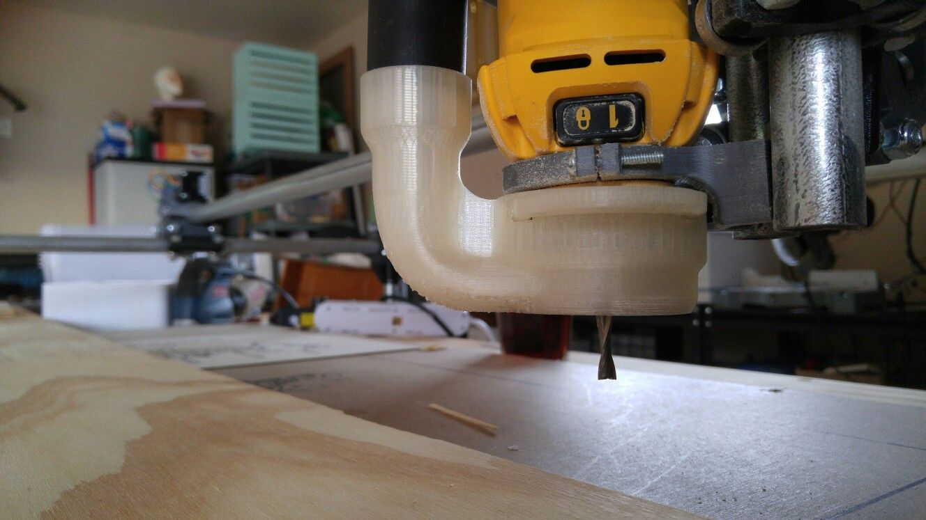 MPCNC equipped with the Dewalt 660 router and a 3D printed