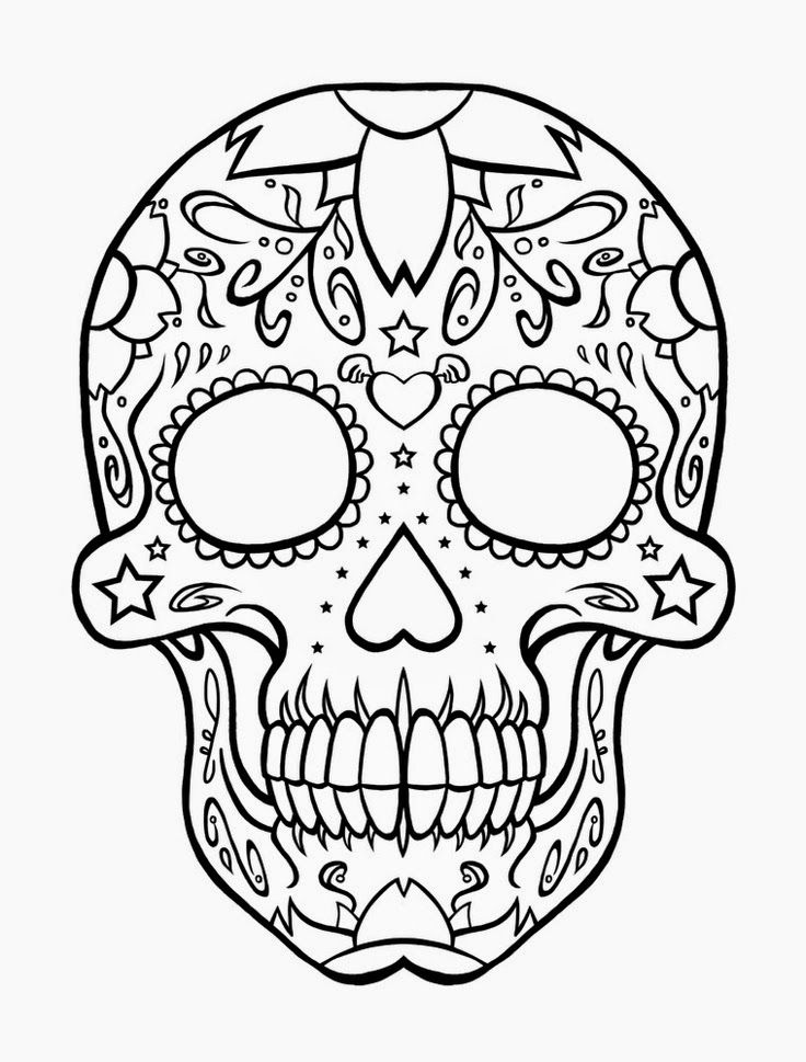 sugar candy skull coloring pages