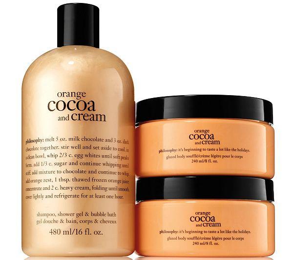 Philosophy Orange Cocoa Cream Shower Gel Souffle Duo Qvc Com Bath And Body Care Body Cream Sally Beauty Supply