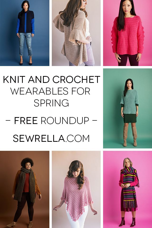 My Favorite Knit and Crochet Wearables for Spring | Tejido