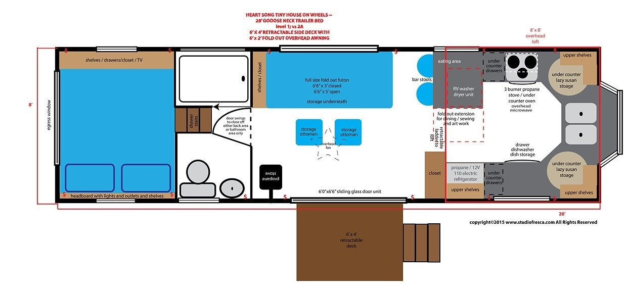 home design layout. tiny house  on wheels goose neck trailer 5th wheel home design