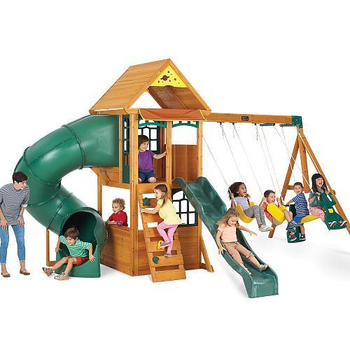 Big Backyard Montrose Premium Wood Swing Set Big Backyard Toys