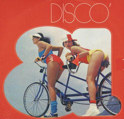 disco bike riding. Eh, close enough.
