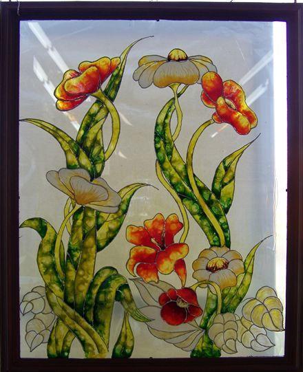 Les patons de faux vitrail sur toile ou sur vitre et bloc de verre et aussi s - Skinglass toile de verre ...