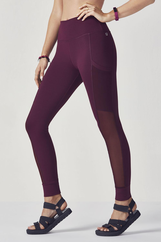 cae1b61fc3536 Mila Pocket Legging   Fitness.   Burgundy leggings, Tight leggings ...
